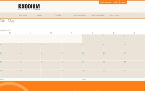Screenshot of Site Map Page rhodium.co.il - Site Map : Rhodium - captured Jan. 11, 2016