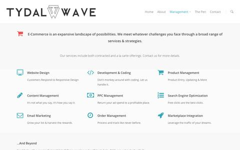 Screenshot of Team Page tydalwavecreative.com - E-Commerce Management | Tydal Wave Creative - captured Sept. 23, 2014