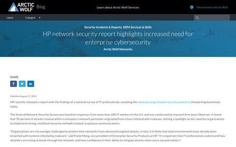 HP network security report: increase enterprise cybersecurity
