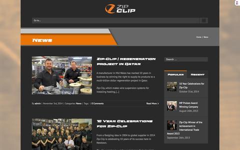 Screenshot of Press Page zip-clip.com - News | zip-clip - captured Nov. 3, 2014