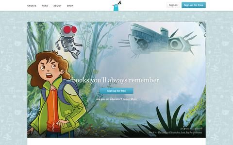 Screenshot of Home Page storybird.com - Storybird - Artful Storytelling - captured Dec. 20, 2015