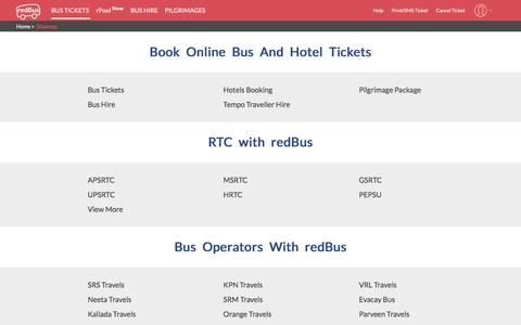 Screenshot of Site Map Page redbus.in - sitemap - captured Jan. 31, 2020