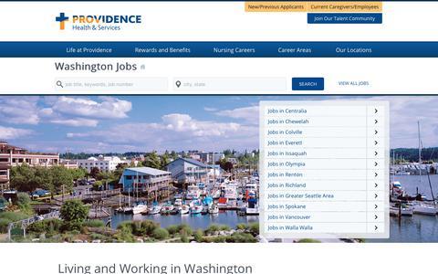 Screenshot of Home Page providence-washington.jobs - Providence Washington Jobs - captured Feb. 2, 2018