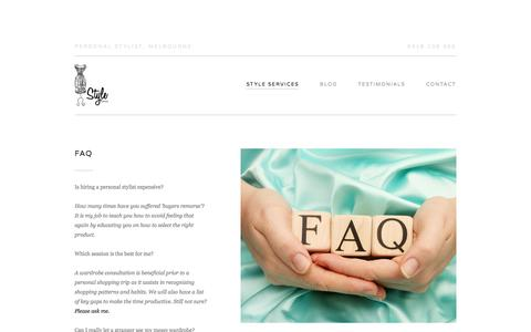 Screenshot of FAQ Page stylestaples.com.au - FAQ — StyleStaples - captured Oct. 9, 2014