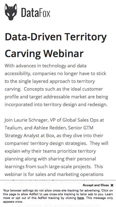 Data-Driven Territory Carving: Tips from a Sales Ops Expert