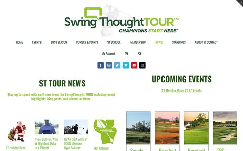 Screenshot of Press Page swingthought.com - Golf news from the SwingThought TOUR including event highlights - captured Nov. 4, 2017