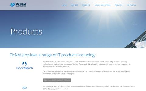 Screenshot of Products Page picnet.com.au - PicNet's Products - captured Jan. 28, 2016