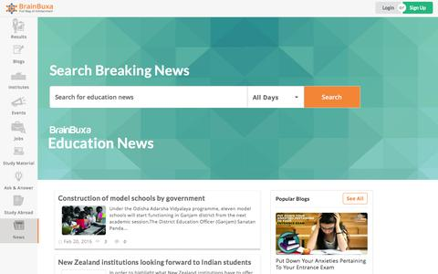 Screenshot of Press Page brainbuxa.com - Education News | Latest News Times | Daily News India - Brainbuxa.com - captured Feb. 20, 2016