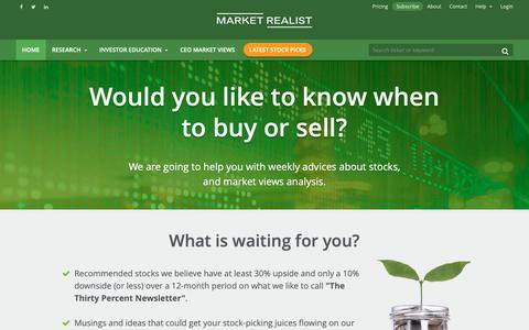 Screenshot of Pricing Page marketrealist.com - Pricing - Market Realist - captured Nov. 2, 2018