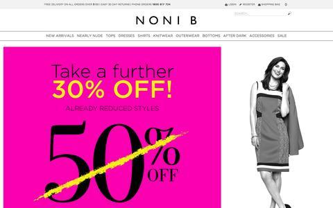 Screenshot of Home Page nonib.com.au - Womens Clothes Online | Noni B - captured Jan. 11, 2016