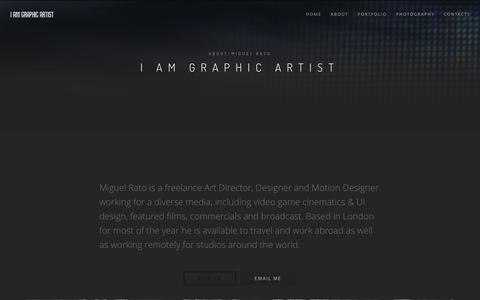 Screenshot of About Page iamgraphicartist.com - IAMGRAPHICARTIST / FREELANCE DESIGN DIRECTION - captured July 18, 2016