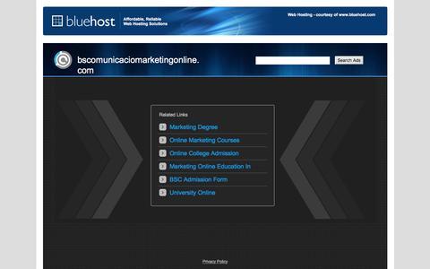 Welcome bscomunicaciomarketingonline.com - BlueHost.com