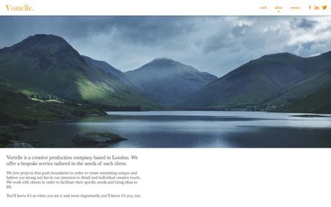 Screenshot of About Page vortelle.com - Vortelle | About - captured Oct. 26, 2014