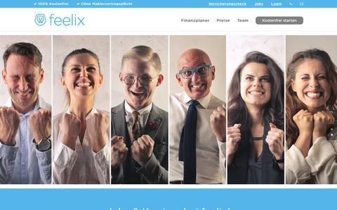 Screenshot of Jobs Page myfeelix.de - feelix - Jobs & Karriere - captured Nov. 25, 2016