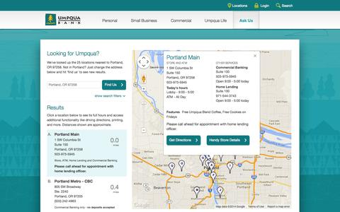 Umpqua Bank Locations