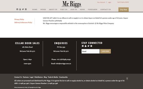 Screenshot of Terms Page mrriggs.com.au - Mr. Riggs - Legal - captured Nov. 1, 2014