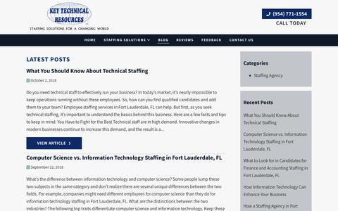 Screenshot of Blog keytechnical.com - Blog | Key Technical Resources - captured Oct. 15, 2018