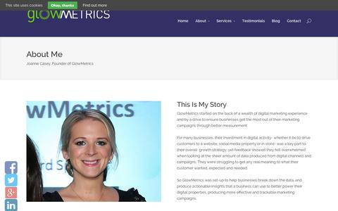 Screenshot of About Page glowmetrics.com - About GlowMetrics - GlowMetrics - captured Oct. 28, 2014