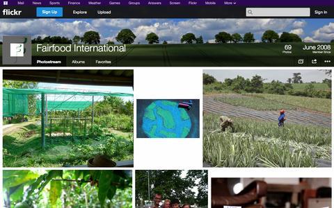 Screenshot of Flickr Page flickr.com - Flickr: Fairfood International's Photostream - captured Oct. 25, 2014