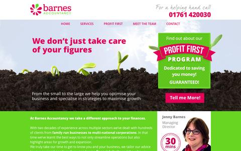 Screenshot of Home Page bathbookkeeper.co.uk - Accountancy Specialists in Bath and Nationwide! - Barnes Accountancy - captured Feb. 11, 2016