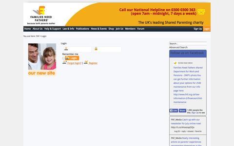 Screenshot of Login Page fnf.org.uk - Login - captured Nov. 3, 2014