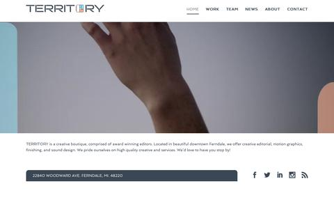 Screenshot of Home Page territorypost.com - TERRITORY | Creative Editorial | Motion Graphics Studio | Sound Design - captured Nov. 9, 2017