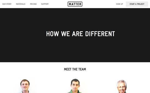 Screenshot of Team Page matter.io - The Team - captured Sept. 23, 2015