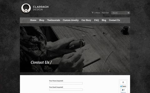 Screenshot of Contact Page claddaghdesign.com - Contact Claddagh Design | Claddagh Design | Celtic Jewelry Handmade in Ireland - captured Sept. 30, 2014