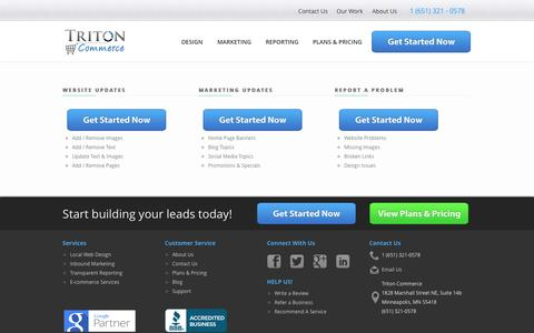 Screenshot of Support Page tritoncommerce.com - Triton Commerce Support | Request a Website Change | Report a Problem. - captured Nov. 5, 2014