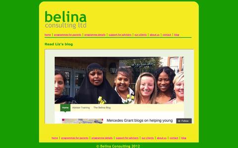 Screenshot of Blog belinaconsulting.co.uk - Belina Consulting - blog - captured Oct. 5, 2014
