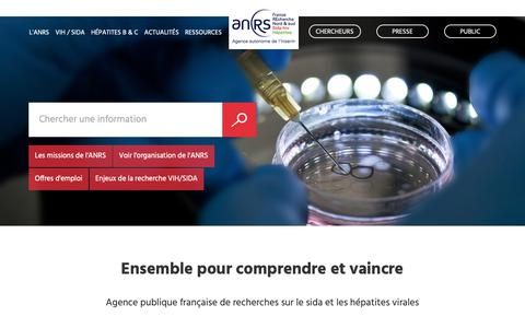 Screenshot of anrs.fr - Accueil | ANRS - captured Oct. 11, 2018