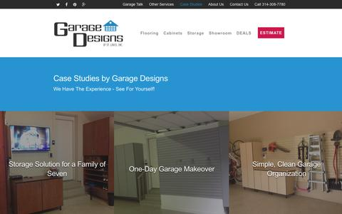 Screenshot of Case Studies Page garage-designs.com - Case Studies - Garage Improvement in St. Louis, MO - captured Jan. 26, 2016