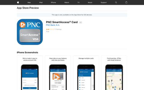 PNC SmartAccess® Card on the AppStore