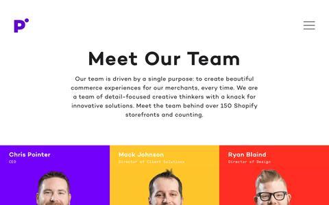 Screenshot of Team Page pointercreative.com - Meet Our Team – Pointer Creative - captured Nov. 27, 2017