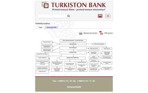 Tashkiliy tuzilma | Turkiston Bank