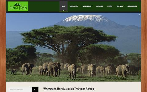 Screenshot of Home Page merutreks.co.tz - Tour travel in Tanzania - captured Oct. 3, 2014