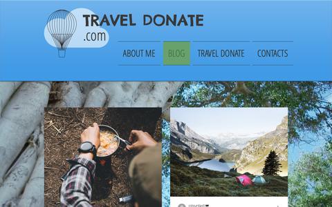 Screenshot of Blog traveldonate.com - Crowdfunding | Travel Donate - captured Dec. 10, 2018