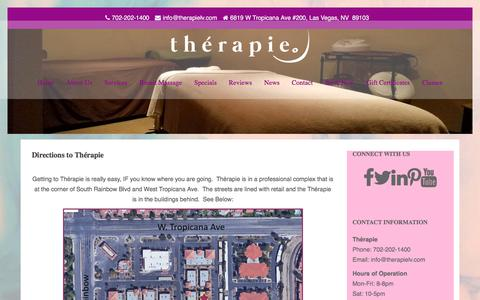 Screenshot of Maps & Directions Page therapielv.com - Directions to Thérapie - Thérapie - captured Nov. 17, 2017
