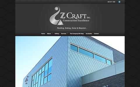 Screenshot of Home Page zcraftinc.net - Z Craft - captured Oct. 6, 2014