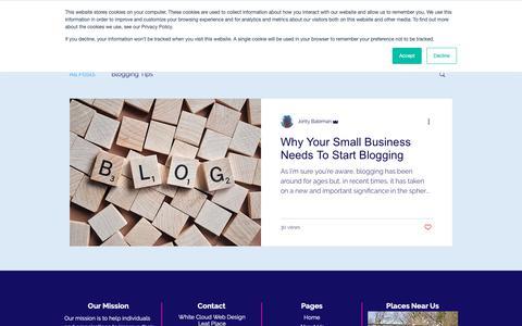 Screenshot of Blog whitecloudwebdesign.co.uk - white-cloud | Blog - captured Dec. 7, 2018