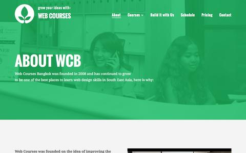 Screenshot of About Page webcoursesbangkok.com - About - Web Courses Bangkok - captured Oct. 1, 2015