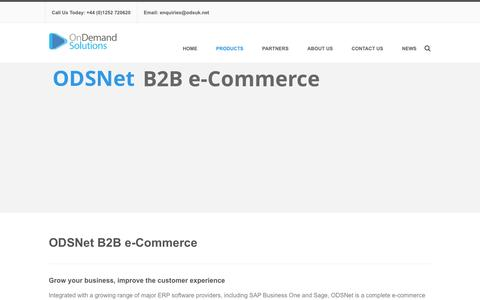 Screenshot of Products Page odsuk.net - B2B e-Commerce - On Demand SolutionsOn Demand Solutions - captured Feb. 21, 2016