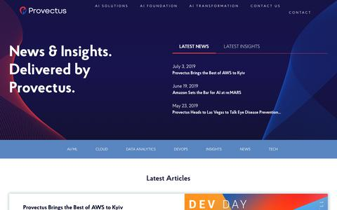 Screenshot of Blog provectus.com - News & Insights. Delivered by Provectus. - Рrovectus - captured July 12, 2019