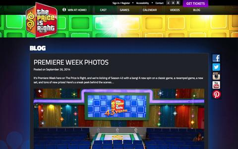 Screenshot of Blog priceisright.com - Blog | The Price is Right - captured Nov. 2, 2014