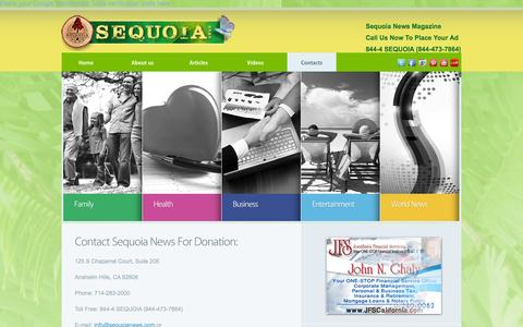 Screenshot of Contact Page Maps & Directions Page sequoianews.com - Contacts  |  Sequoia News| Magazine for seniors - captured Oct. 26, 2014