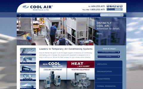 Screenshot of Home Page cool-air.com - Cool Air Rentals   Air Conditioning   Heating   Ventilation - captured Jan. 31, 2016