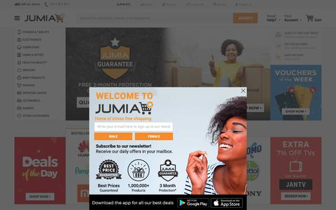 Screenshot of Home Page jumia.co.ke - Jumia Kenya - Online Shopping for Electronics, Phones, Fashion & more - captured Jan. 8, 2019