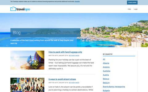 Screenshot of Blog travelopo.com - Travelopo: Amazing Blog Posts for Dream Holidays, Tips & Ideas - captured Sept. 22, 2018