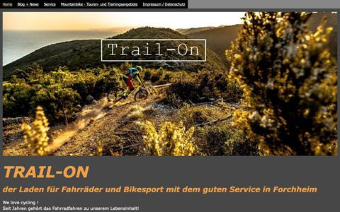 Screenshot of Home Page trail-on.de - Trail-On - TRAIL-ON - captured Dec. 2, 2018