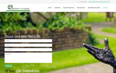 Screenshot of Contact Page wijnhovengroenadvies.nl - Contact - captured Feb. 23, 2016